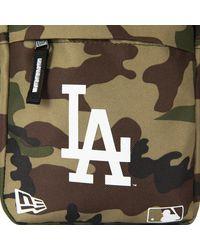 New Era La Dodgers Woodland Side Bag - Green