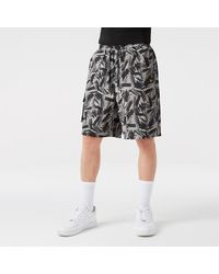 KTZ New Era Print Cargo Shorts - Black