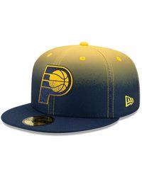 New Era Indiana Pacers Nba Back Half 59fifty Cap - Blue