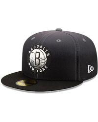 New Era Brooklyn Nets Nba Back Half 59fifty Cap - Black