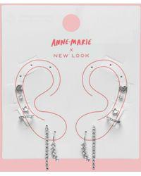 New Look Do It Right Diamanté Ear Party - Metallic