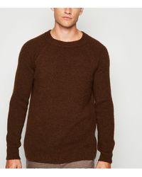 New Look Rust Raglan Sleeve Jumper - Brown