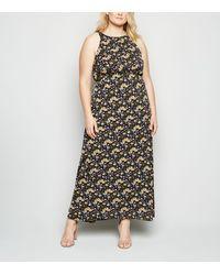 Mela Curves Blue Floral Maxi Dress