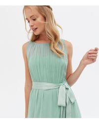 Little Mistress Chiffon Belted Maxi Dress New Look - Green