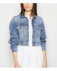 New Look Blue Cropped Denim Jacket
