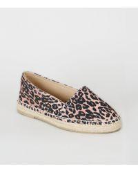 New Look Girls Stone Leopard Print Espadrilles - Multicolour