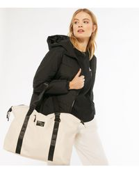 New Look Cream Tab Front Sports Holdall Bag - Multicolour