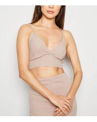 77a63b82ac4c5 New Look Stone Asymmetric Hem Wrap Skirt - Natural