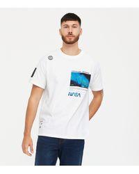 New Look - White Bahamas Nasa Logo T-shirt - Lyst