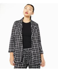 New Look Black Check Jersey Blazer