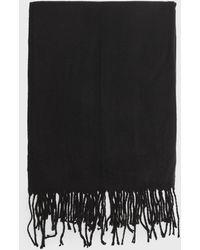 New Look Black Plain Tassel Trim Scarf