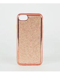 New Look Rose Gold Diamanté Case For Iphone 6/7/8 - Multicolour
