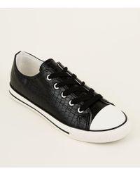 d94200aa9f Superga 2095 Plus Croc High Top Fashion Sneakers in Black - Lyst