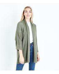 New Look - Khaki Kimono Cardigan - Lyst