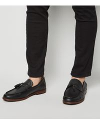 New Look - Black Leather-look Tassel Trim Loafers - Lyst