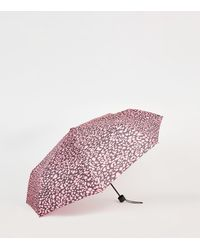 New Look Pink Leopard Print Umbrella