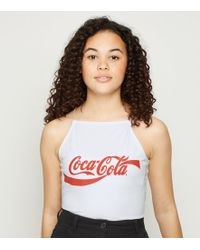 a5c2bc43b3b PrettyLittleThing Coca Cola T-shirt in Red - Lyst