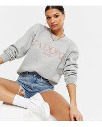 AX Paris J'adore Logo Sweatshirt New Look - Grey