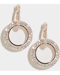 New Look Rose Gold Premium Diamanté Circle Earrings - Metallic