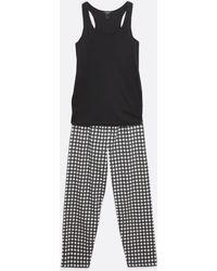New Look Maternity Black Gingham Wide Leg Trouser Pyjama Set