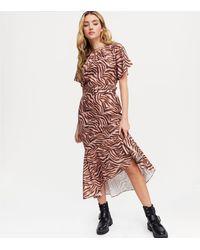 Chi Chi London Pink Tiger Print Midi Dress