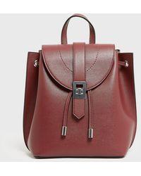 New Look Burgundy Leather-look Mini Backpack - Multicolour