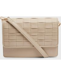 New Look Off White Leather-look Woven Cross Body Bag - Multicolour