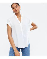New Look Off White Short Sleeve Overhead Shirt