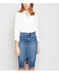 New Look Blue 'lift & Shape' Denim Pencil Skirt