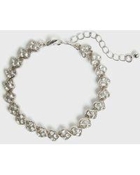 New Look Silver Diamanté Heart Bracelet - Metallic