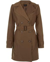 New Look Khaki Belted Trench Coat - Natural