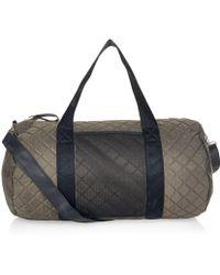 New Look Khaki Quilted Barrel Bag - Blue