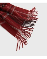 ONLY Check Tassel Scarf New Look - Red