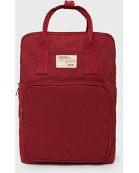New Look Red Tab Front Backpack
