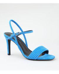 59495bd843f731 New Look Bright Orange Velvet Stiletto Heel Sandals in Orange - Lyst