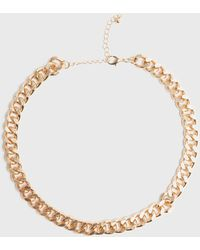 New Look Gold Chunky Chain Choker Necklace - Metallic