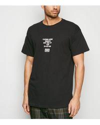 New Look Black Oversized 1992 Slogan T-shirt