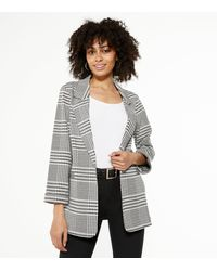New Look Light Grey Check Jersey Blazer