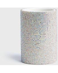 New Look Silver Diamanté Pen Pot - Metallic