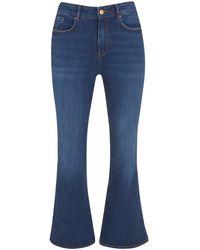 New Look Petite Blue High Waist Brooke Flared Jeans