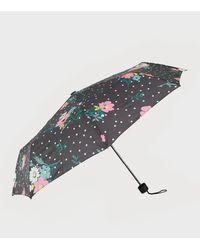 New Look Multicoloured Floral Spot Umbrella