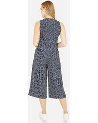 Mela Spot Wide Leg Crop Jumpsuit New Look - Blue