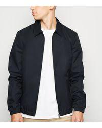 New Look Navy Collared Harrington Jacket - Blue