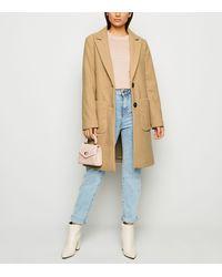 New Look Petite Light Brown Revere Collar Longline Coat