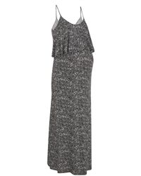New Look Maternity Black Animal Print Layered Nursing Maxi Dress