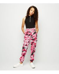 new authentic best deals on purchase newest New Look Girls Pink Ripped Utility Trousers in Pink - Lyst