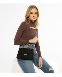 New Look Black Suedette Chain Cross Body Bag