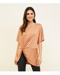 81a23fc4a74b0 Missguided Rust Ribbed Zip Front Crop Top in Brown - Lyst