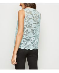 824946fe203a2 Ted Baker Switze Nectar Scalloped Neck Cami In Mint in Green - Lyst