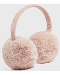 New Look Pink Plain Faux Fur Ear Muffs
